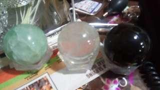 3 glass balls
