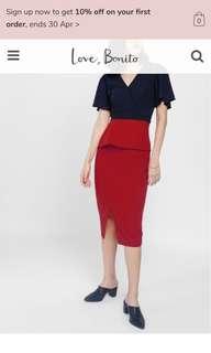 Love Bonito Pencil Skirt