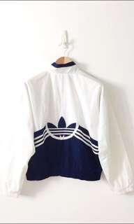 Adidas Vintage full zip windbreaker with logo embroidery