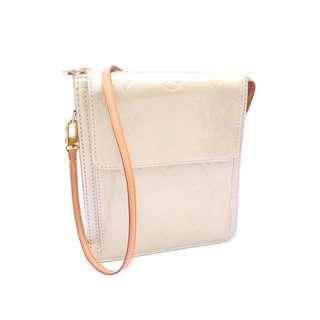 LOUIS VUITTON Bag Monogram Verni Mott Silver x Brown x Gold Hardware Patent Leather x Leather Shoulder Bag Handbag Women's M9103 (SHIP FROM JAPAN)