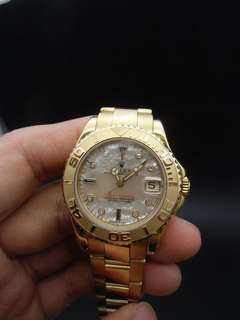 Rolex yacht master golden 中裝 and diamond dial full set