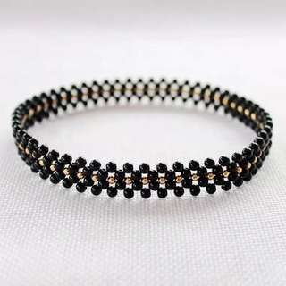 Ladies Minimalist Crystal Choker