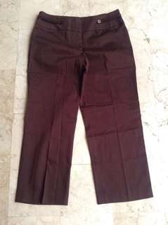 Camille La Vie Brown Slacks Pants for Women