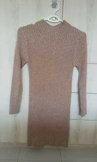 Knitted Nude Bodycon Dress