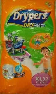 Drypers DryPantz XL32