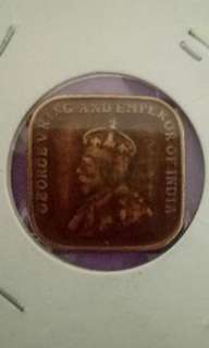 Error king George V straits settlement coin : 1/4 and 1919 should not appeared on the same side