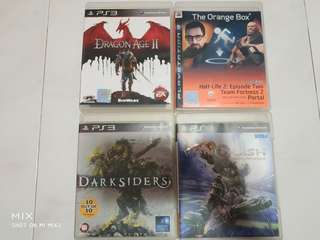 PS3 Games clearing. $8 each.