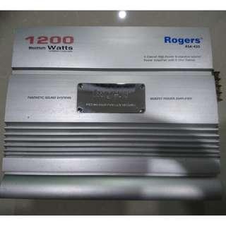 Rogers RSA-435 4 channels 1200Watts Power Amplifier