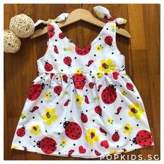 🐞Cute Ladybug Shoulder Ribbon Dress 🐞