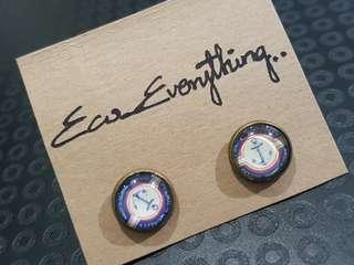 Retro Button Earrings