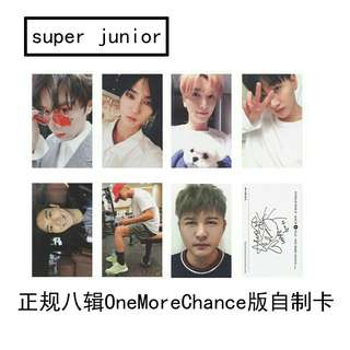 Super Junior One More Chance Duplicate Photocard