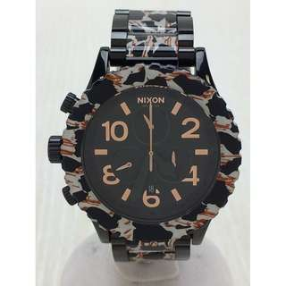 NIXON ◆ 42-20 CHRONO / MINIMIZE / Quartz Wrist Watch / Analog / Stainless / Black (SHIP FROM JAPAN)