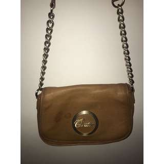 TAN BROWN AUTHENTIC OROTON SATCHEL BAG