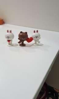 Line friends milk cony brown