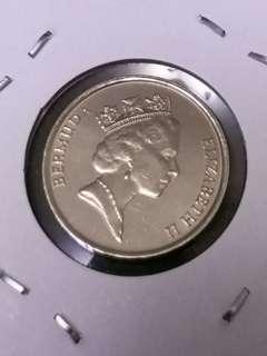 全新加勒比英屬百慕達FIVE CENTS硬幣