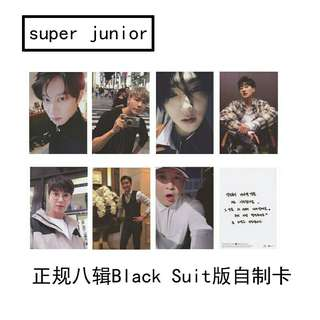 Super Junior Black Suit Photocard