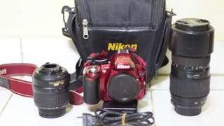 Dijual kamera Nikon tipe d3100 fullset+lensa baru. Jual Cepat