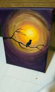 Small canvas painting.