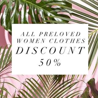 Disc 50% All preloved women clothes