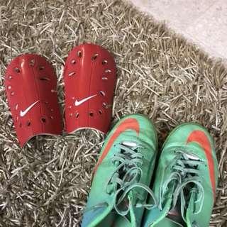 Hockey shoes + free shin guards