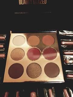 Beauty glazed eyeshadows/15pcs feather brushes(brand new)