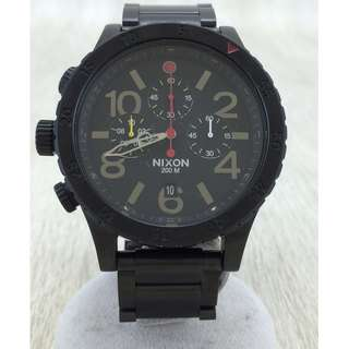 ★ NIXON ◆ keep it fresh / Quartz Wrist Watch / Analog / Chronograph / BLK / THE 48-20 Young Hachini Zero / (SHIP FROM JAPAN)