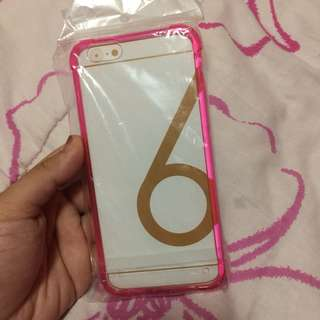 •brandnew• Iphone 6 Clear Pink Shockproof Case