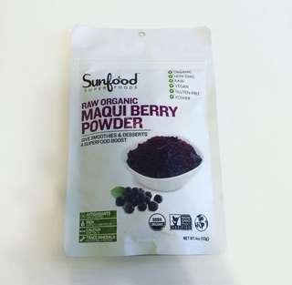 代購美國Sunfood Maqui Berry Powder馬奇果粉智利酒果粉