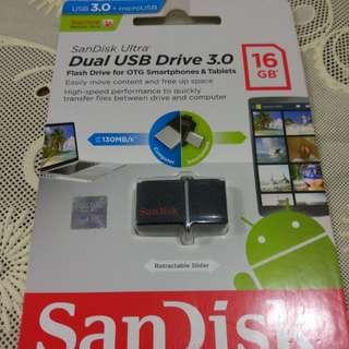 DUAL USB Drive 3.0 16 GB