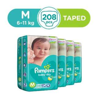 Pampers Tape Size M L