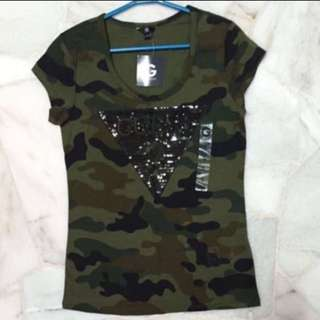 Guess WMNS Tracy Camo Logo Tee (Size S) from U.S