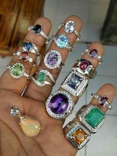 Custom silver ring.