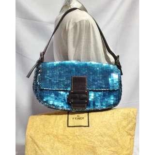 Authentic FENDI Sequin Embellished Baguette Bag