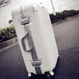 Rare, Simplicity & Stylish White Luggage Bag, Preorder, Available in different sizes & colours