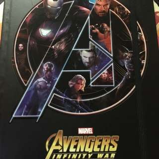 Avengers Infinity War notebook