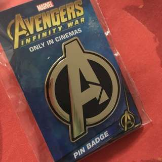 Avengers Infinity War Pin Badge