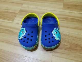 Nemo Dark Blue Crocs Sandals size 8