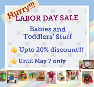 UPTO 20% OFF!!! Little Tikes, Fisher Price, ELC, Playskool, Melissa & Doug