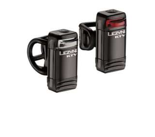 Lezyne KTV drive front and rear light set silver