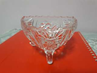 Glass Bowl with 3 legs