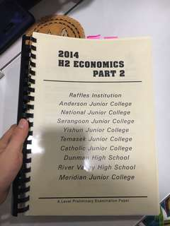 H2 ECONOMICS 2014 PAST YEAR PAPERS