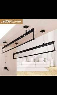 Matte Black Laundry Pole System
