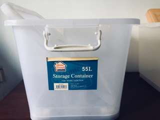 2 for $10 storage containers with wheels - 55L