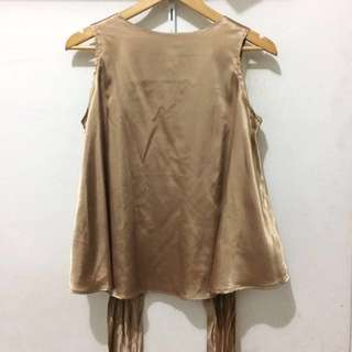 Gold Tied Blouse