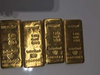 Gold Bar 1Kg Metalor