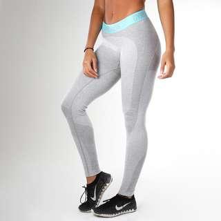 Gymshark Flex Leggings - Mint with Light Grey Marl