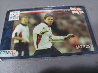 98世界盃紀念卡