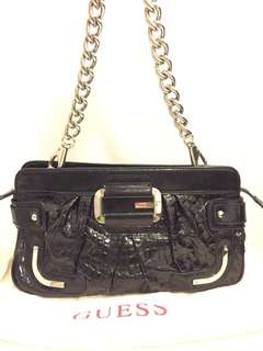 Guess handbags with chain in Black