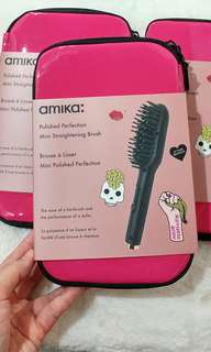 少女💓爆發💥超好用之選 🇺🇸美國正牌 Amika Polished Perfection Mini Straightening Brush (PinkLadyBag)