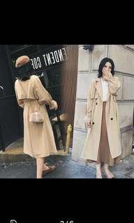 Brand New Ladies Women Nude Trench Coat Jacket